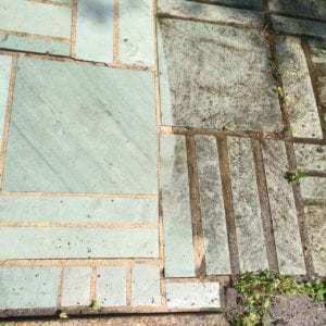 WOW! Slate patio completely restored to beauty. - h2oTEKS Ltd. Pressure Washing
